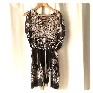 Ruby Rox flutter sleeve print dress